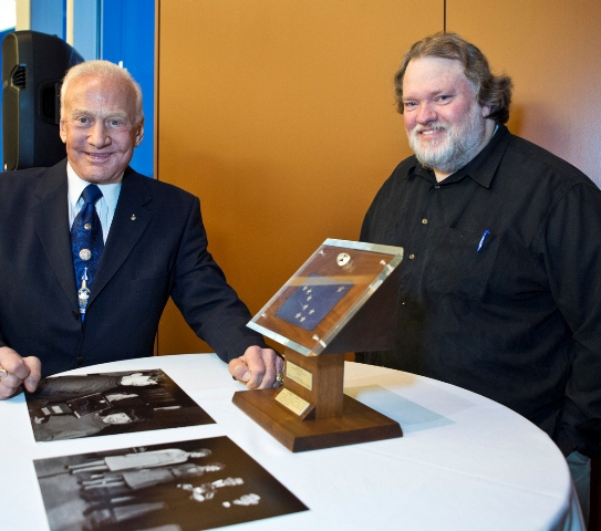 Buzz Aldrin and Steve Henrikson