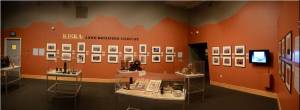 The color chosen for this gallery was designed to highlight the photographs taken of the battlefield in Kiska.
